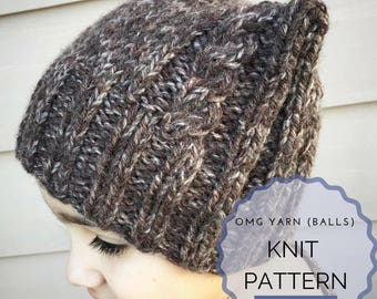 Knit Pattern - Hat - Beanie - Animal Hat - Winter - Fall - Fashion - All Ages