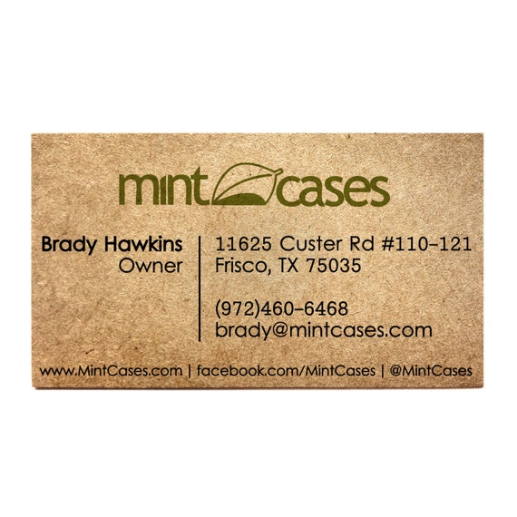 Rustic business cards designed one side printed kraft reheart Choice Image