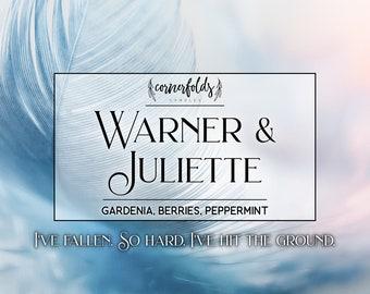 Warner & Juliette | Shatter Me Inspired 4oz. or 8oz. Scented Soy Candle
