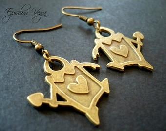 Alice in Wonderland earrings - card soldiers