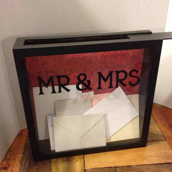 Unique Wedding Card Holder Ideas: WEDDING CARD Box 12x12 Shadow Box THEN Use For An Admit One