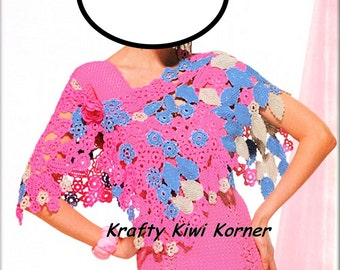 Stunning Irish Crochet lace Rose Dress and Shrug- Made to Order