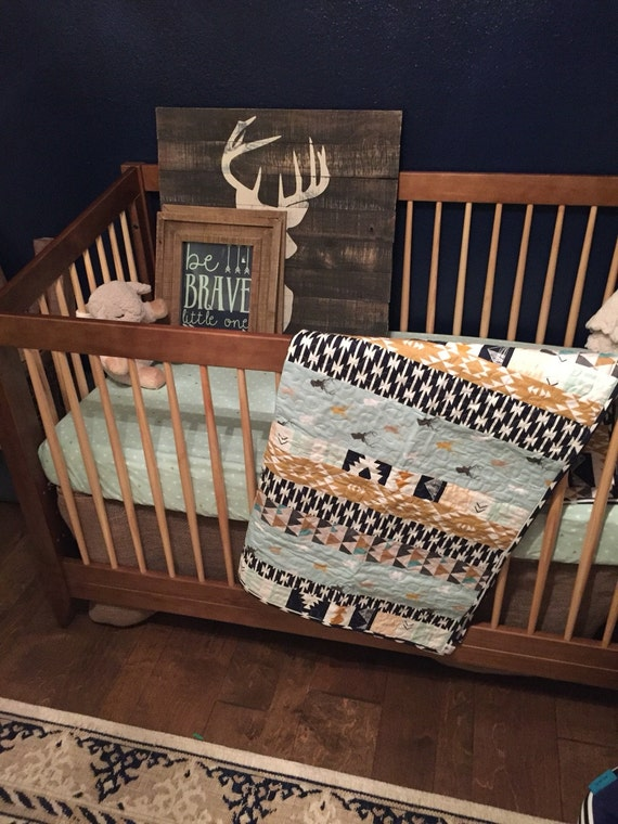 Baby Quilt Crib Quilt Crib Bedding Baby Boy Strip Quilt