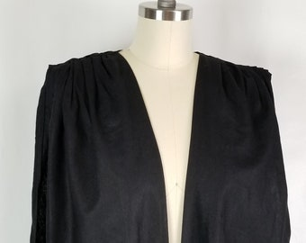 cotton, sleeveless, vest, coat, jacket, black, pleated shoulders
