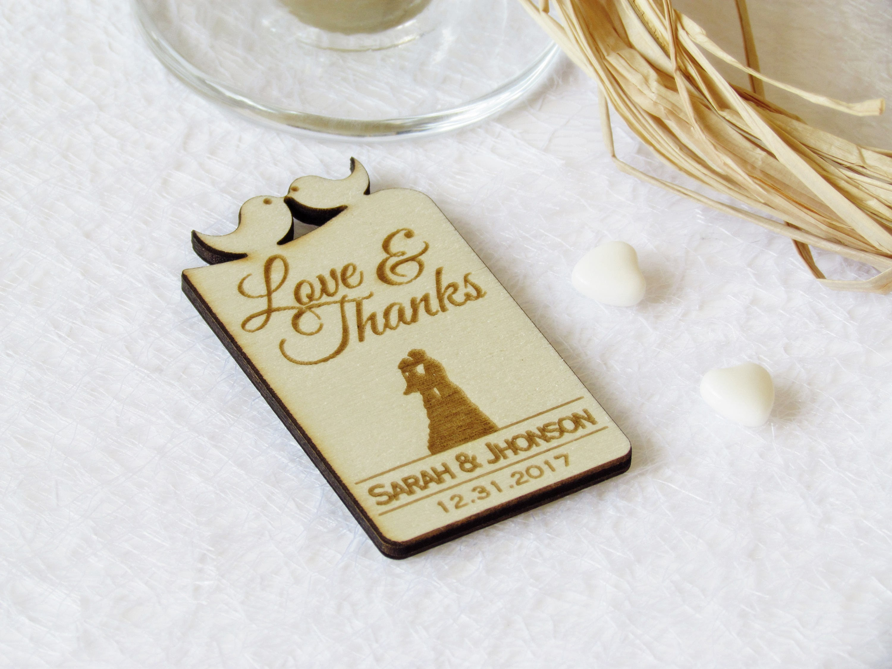 Thank You Wedding Magnet-Wedding Favors-Wedding Favor