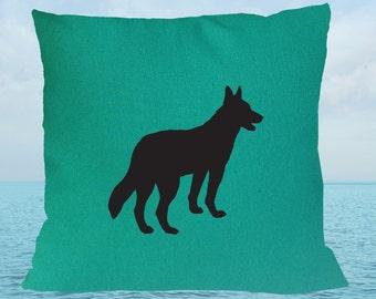 Kelpie Sea Green  Cotton Cushion Cover Free Australian Shipping
