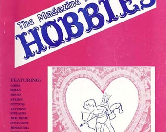 Vintage February 1980 HOBBIES Magazine - The Magazine for Collectors Featuring Antique Valentines