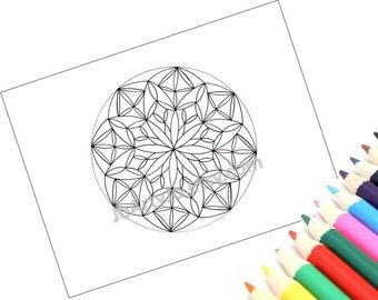 Mandala Coloring Page, Printable- Page 1