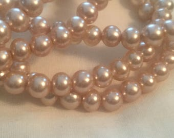 Beautiful Handmade Japanese Glass Pearl Beads (7mm)(40)