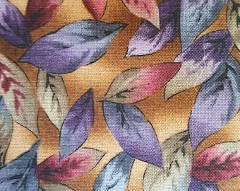 Brown Fall leaves print