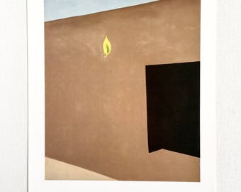 Georgia O'Keeffe / Patio with Green Leaf / 1956 / Art / Book Page Print / Published 1990's