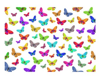 Unique High Quality Multi Coloured Butterfly Gift Wrapping Paper-Size A3 - GP-102