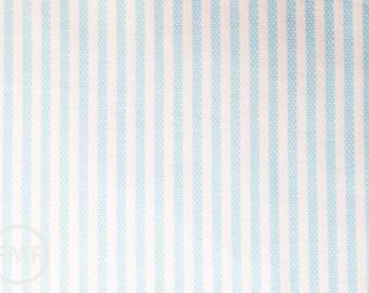 Animal ABCs Dotty Stripes in Baby Blue, Alyssa Thomas, Penguin and Fish, 100% Organic Cotton, Clothworks, Y-1690-29