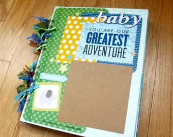 Baby Boy Scrapbook, Baby Boy Photo Album, Infant Boy, Photo Album, Scrapbook Album, Baby Shower Gift, Boy, Unique Scrapbook, Baby Scrapbook