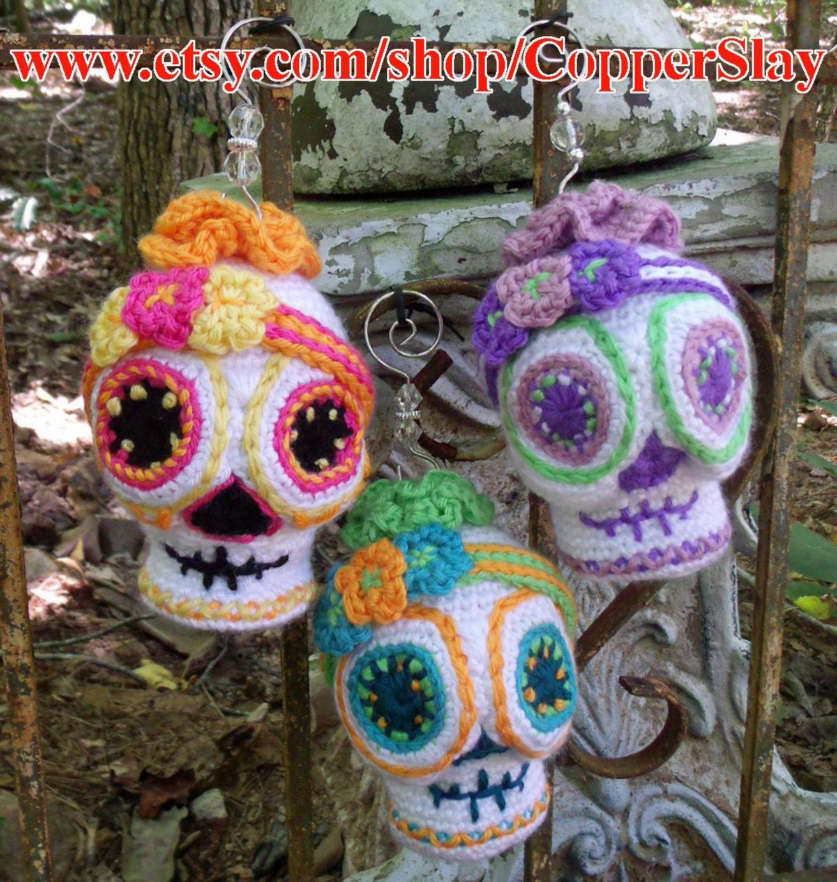Sugar Skull Crochet Pattern Amigurumi Day of the Dead