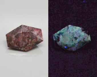 Yttrofluorite 1.43cts Fancy Cut 8.50 x 6.20mm Colorado U.S.A H4-4.50 y0193 Rare Loose Gem Gemstone Jewelry Making Rare