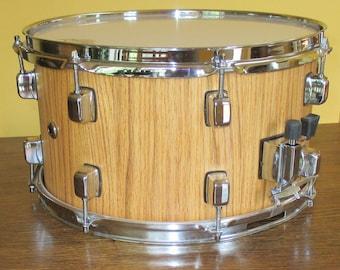 "Custom Red Oak Snare Drum 8"" x 14"""