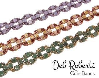 Coin Bands beaded pattern tutorial by Deb Roberti