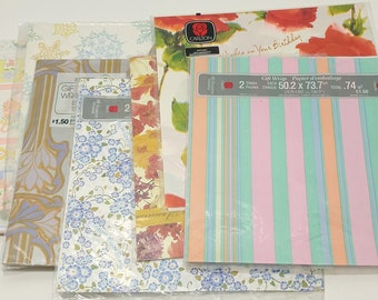 Lot of Vintage All Occasion Wrapping Paper in Original Packaging - gift wrap; children's; collectible; 1970's; 1980's; rare; OOAK