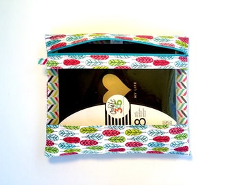 Rebecca Planner Pouch - Feathers - Erin Condren, Plum, Limelife, Emily Ley, InkWell, Happy Planners