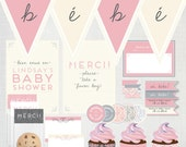 Items Similar To Printable French Baby Shower Decoration