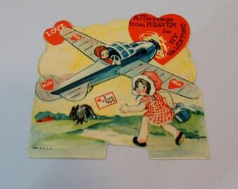 Old 1940s Childs Valentinet