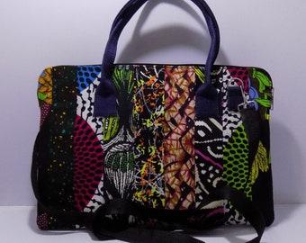 African Print Laptop Bag