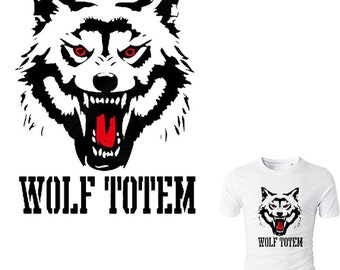 Wolf Totem Iron On Patch Fashion Ironing Stickers For DIY Clothing Easy By Household Irons Eco-friendly Patches Washable