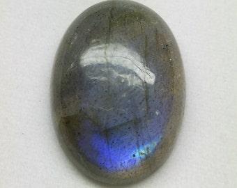 Wt-  18.20 Cts, Natural Labradorite Oval Cabochon, Blue Flashy Stone, Size 20x13 MM,  Jewelry Making Cabochon,Loose Gemstone, 455