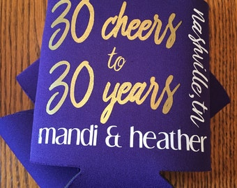 30th Birthday Beverage Cooler - Can Holder - Party Favor