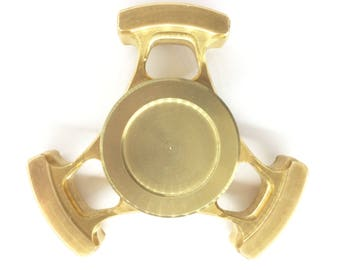 Bear Fidget Spinner in Brass