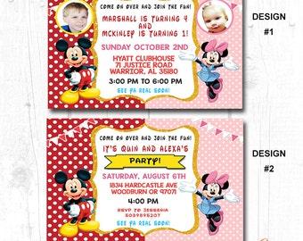 DOUBLE BIRTHDAY INVITATION, Dual Birthday Invitation, Combined Birthday Invitation, Brother Birthday Invitation, Sister Birthday Invitation