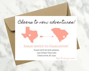 Moving Announcement, New Home Postcard, New Address, We've Moved, INSTANT DOWNLOAD, Home sweet home
