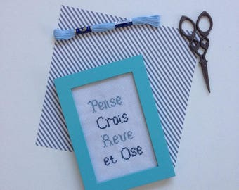(Quote) cross stitch frame