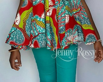 African clothing Free blouse Ankara Maternity Top Ankara plus size top