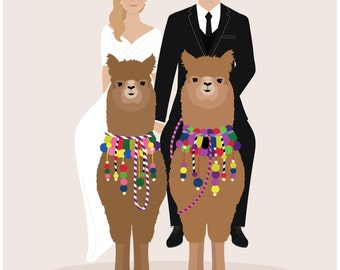 Custom wedding portrait, wedding party portrait, bridesmaid gift