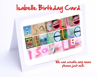 Isabelle Personalised Birthday Card
