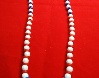 Patriotic Red, White and Blue Necklace