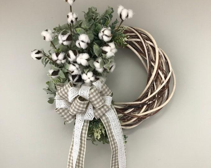 Farmhouse Cotton Wreath