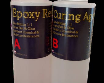 Super clear epoxy resin jewelry casting coating resin - 32oz kit