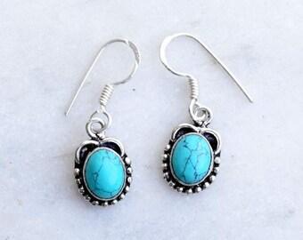 Turquoise Earring, Turquoise Stone , Stone Earring, Gift Earring, Turquoise Earring, Earring, Earrings,Turquoise  Jewellery