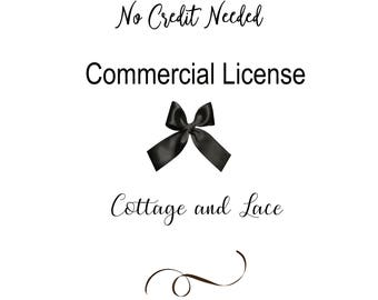 Commercial License - No Credit Required - Single Product
