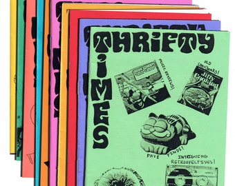Thrifty Times - Issues 1-10 Bundle - A Zine about Thrifting