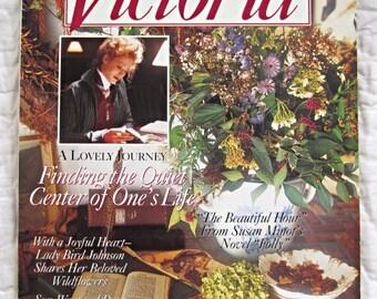 Vintage Victoria Magazine September 1993, Back Issue Magazine, Home Decor, 1990s