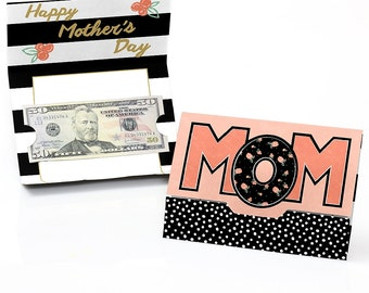 Best Mom Ever - Mother's Day Money and Gift Card Holder - Happy Mother's Day Gift Card or Money Holder - 8 Ct.
