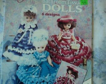 American School of Needlework 1111 Crocheted Bathroom Tissue Dolls 6 designs