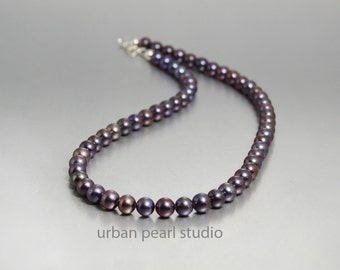 Black Pearl Necklace Gifts for Her Under 50 Dollars Strand Of Black Pearl Choker Necklace