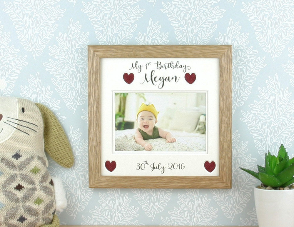 1st birthday gift, Baby picture frame, First birthday photo frame ...