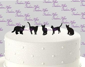 Add a Pet - Cat Silhouette Cake Topper, Cupcake Topper, Acrylic Cake Topper [CTpc]