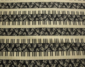 """Symphony Suite """"Piano Keys & Music Notes""""-Blank Quilting-BTY"""